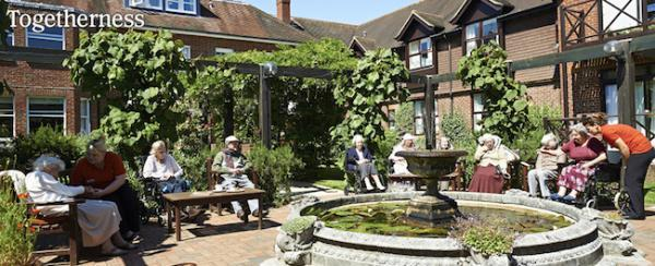 Colten Care Court Lodge courtyard