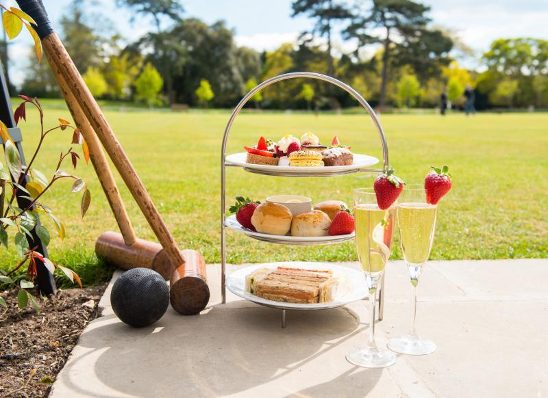 Afternoon Tea on the Croquet Lawn at Chewton Glen
