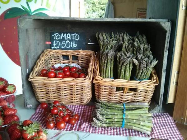 Goodall Farm: pick your own strawberries, plus asparagus and tomatoes