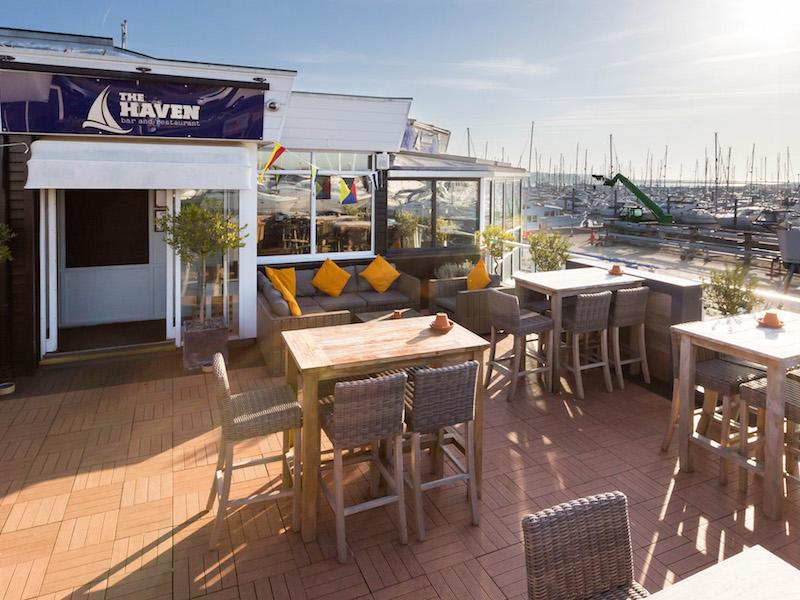 Stunning views from the Haven Bar and Restaurant