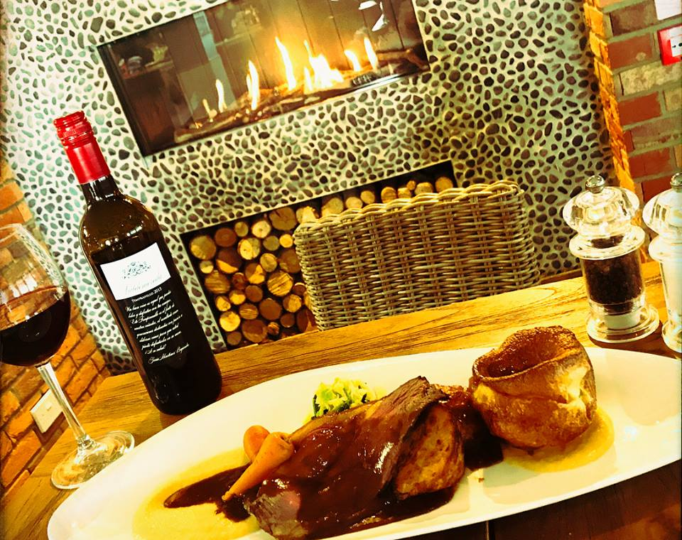 Steak by the fire at The Haven Bar & Restaurant