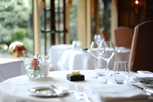 Dine in style in the Terrace at the Montagu Arms Hotel