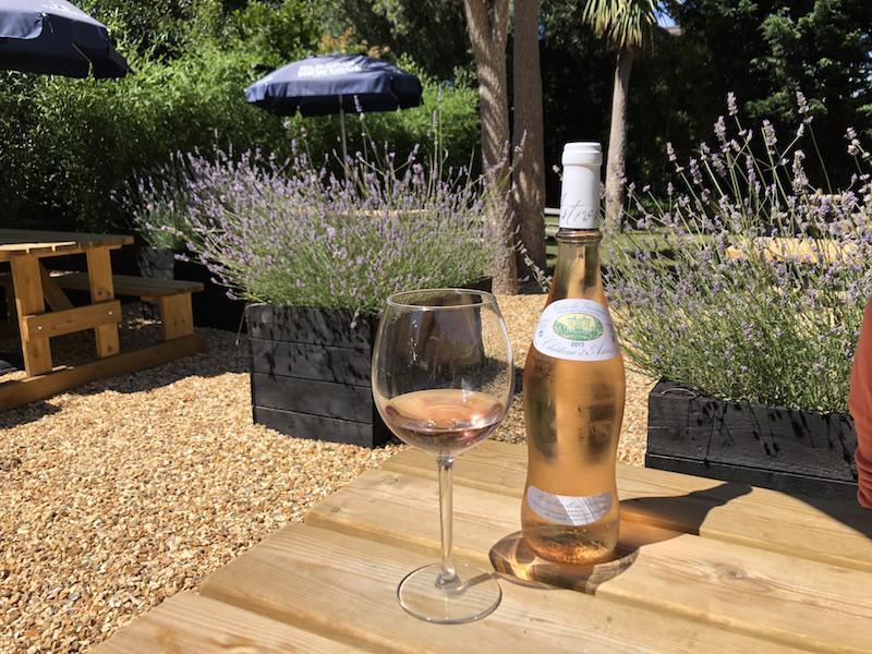 Enjoy a relaxing drink in the Bosun's Chair garden